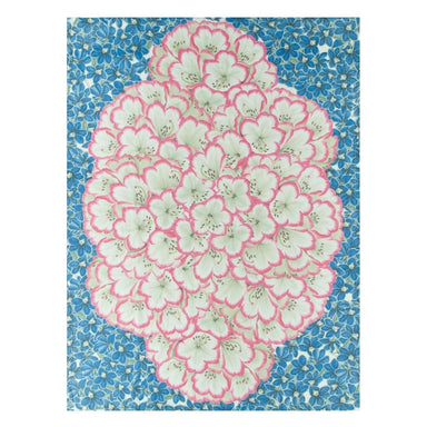 John Derian Rhododendron Cobalt Throw 2