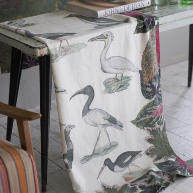 John Derian Birds of a Feather Parchment Throw 3
