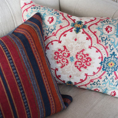 Valetta Peacock Decorative Pillow | William Yeoward