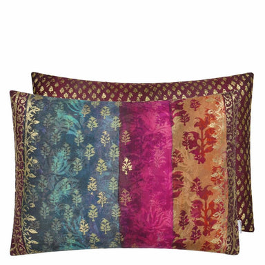 Kasavu Amethyst Decorative Pillow with Reverse Image