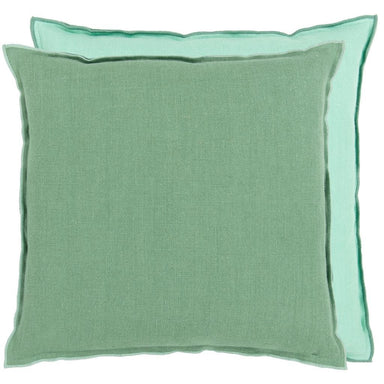 Brera Lino Thyme & Jade Decorative Pillow | Designers Guild at Fig Linens