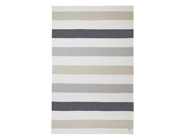 Walker's Point Pearl, Gray and Navy Blanket by Brahms Mount | Fig Linens