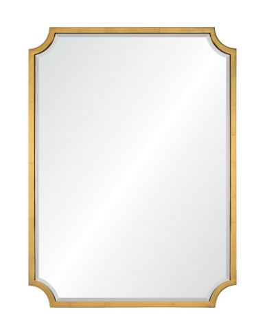 20669-bgl Burnished Gold Leaf Wall Mirror by Mirror Image Home | Fig Linens