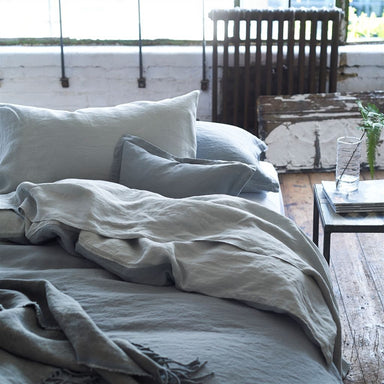 Designers Guild Biella Pale Grey and Dove Bedding | Fig Linens