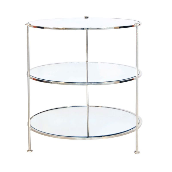 3 Tier Nickel Side Table | Fig Linens