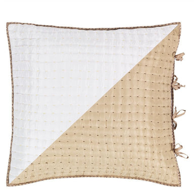 Chenevard Natural & Chalk Square Sham