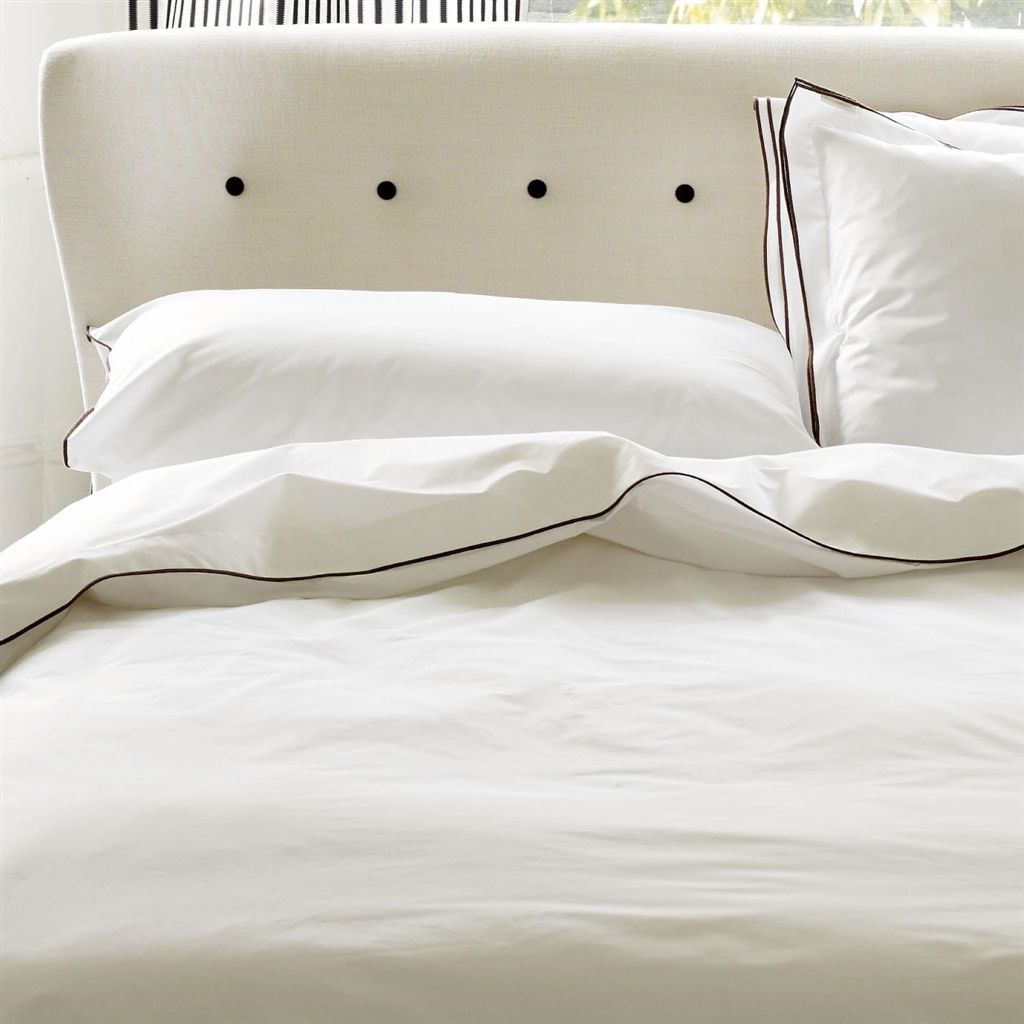 Designers Guild Astor Bedding | Nutmeg and White | Fig Linens and Home