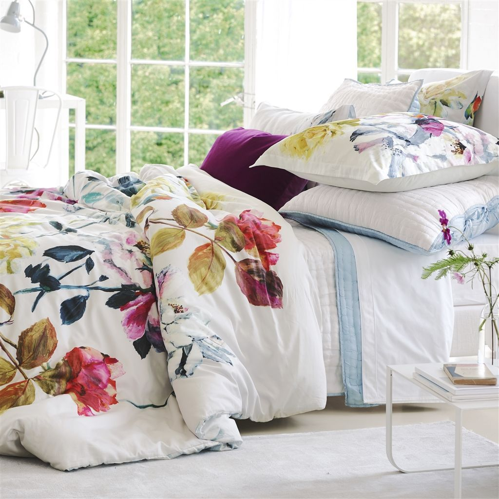 Couture Rose Fuchsia Bedding by Designers Guild | Duvets & Shams at Fig Linens
