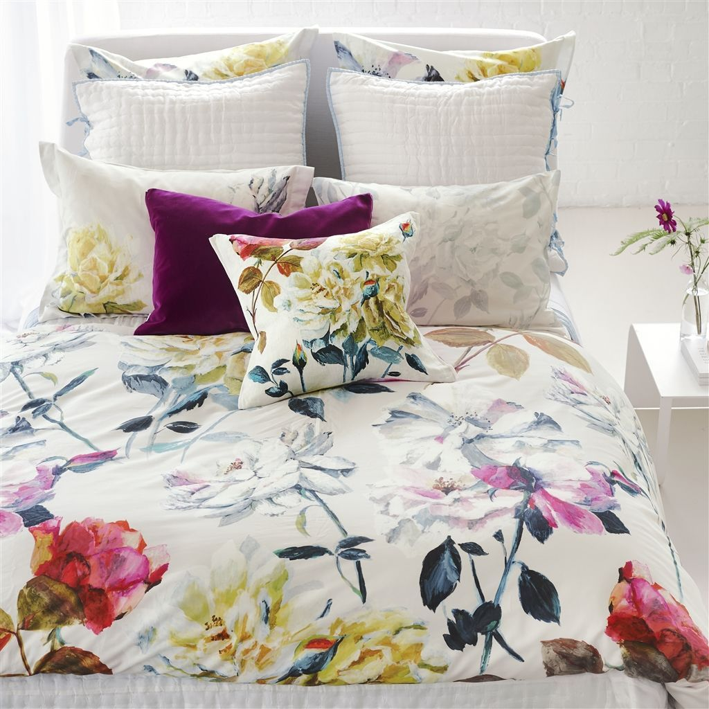 Couture Rose Fuchsia Bedding by Designers Guild | Duvets & Shams