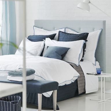Designers Guild Astor Indigo - Duvets and Shams and Sheets | Fig Linens