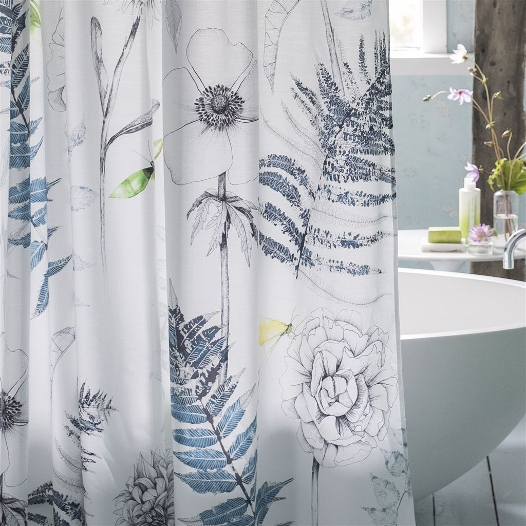 Designers Guild Acanthus Indigo Shower Curtain