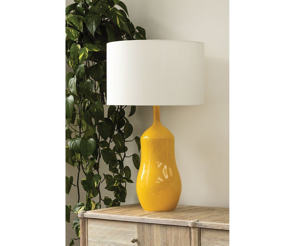 Appia Ochre Table Lamp | William Yeoward Lamps at Fig Linens