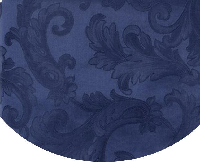 Acanthus Table Linen by Sferra elegant tablecloths, placemats and napkins fig linens Navy