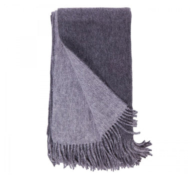 Alashan Cashmere Charcoal and Ash Wool / Cashmere Double-Faced Throw