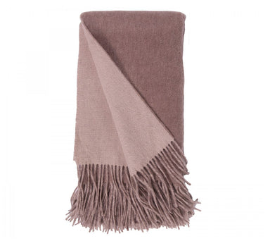 Alashan Cashmere Mushroom and Bisque Wool / Cashmere Double-Faced Throw