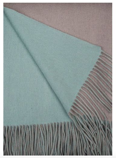 Alashan Cashmere Platinum and Meadow Wool / Cashmere Double-Faced Throw