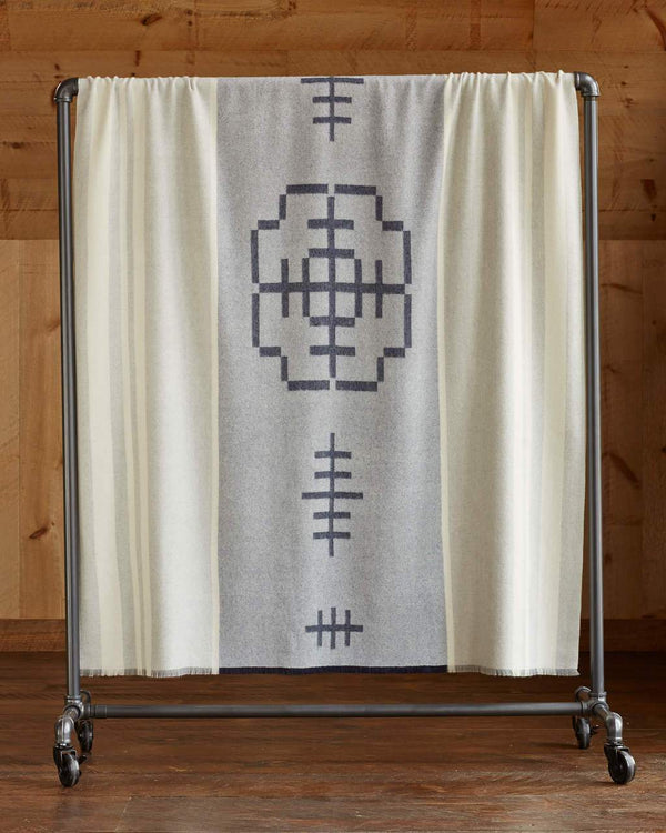 Mazing Alpaca Throw in Light Grey - Front Side - Alicia Adams
