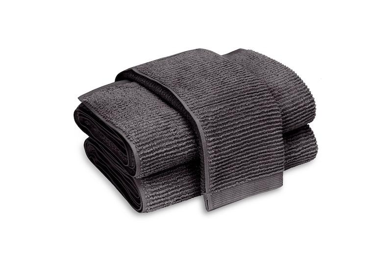 Matouk Aman Bath Towels in Anthracite | Fig Linens