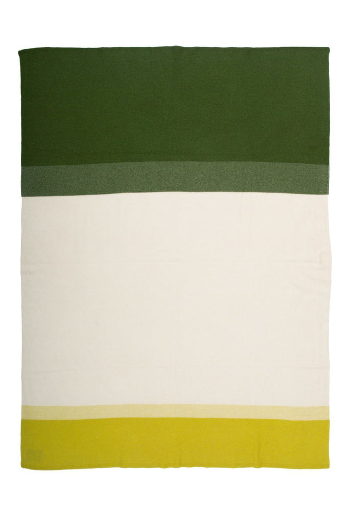 Array Green Throw Blanket - SAVED NY Cashmere