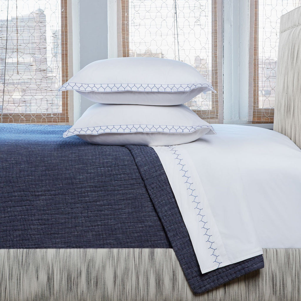 John Robshaw Vivada Ink Coverlet | Fig Linens and Home