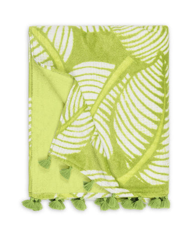 Costa Rica Leaf Beach Towel | Matouk Schumacher at Fig Linens