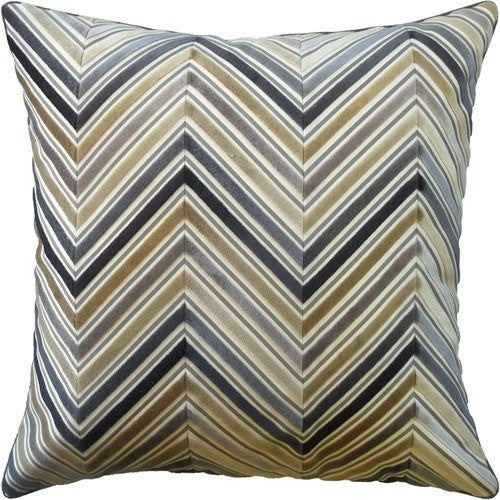 bittersweet chevron pillow in neutral- ryan studio - fig linens