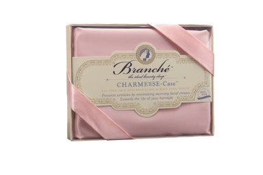 Silk Charmeuse Pillowcase in Blush Pink - Branché at Fig Linens