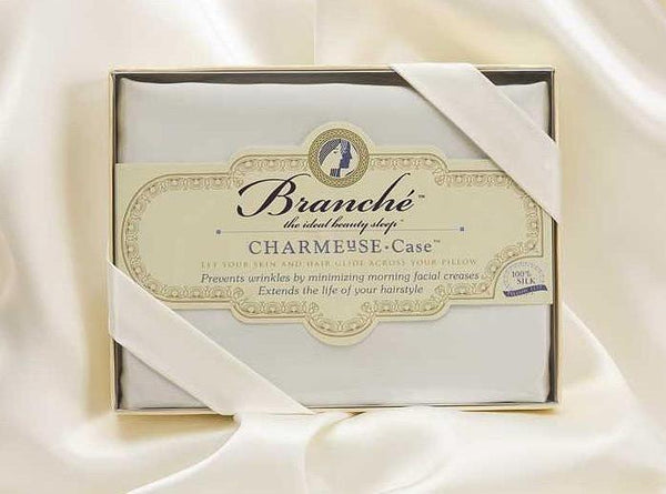 branche Silk charmeuse pillowcase in ivory Fig Linens