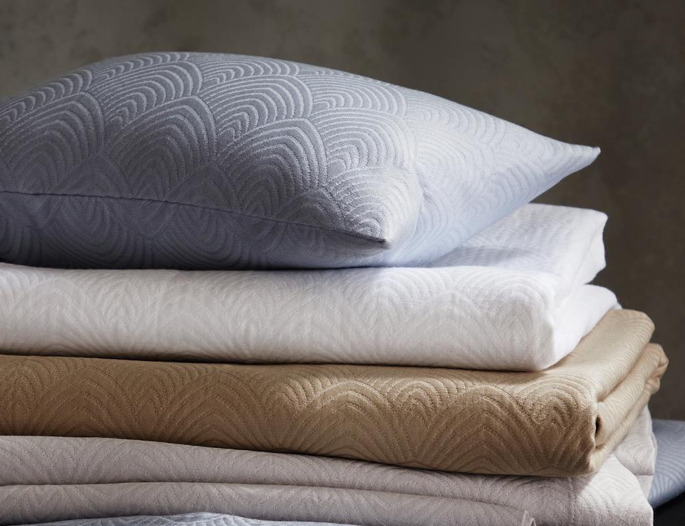 Matouk Schumacher Brocatelle Cotton Coverlets and Shams at Fig Linens