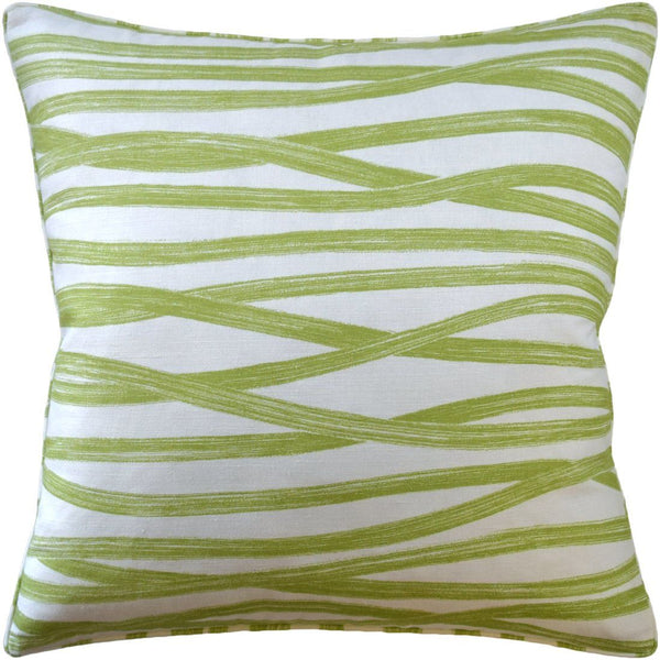 Brushstrokes Leaf Decorative Pillow