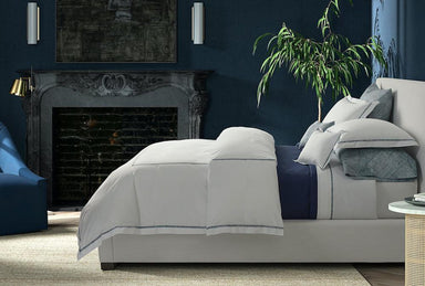 Matouk Schumacher Burnett Border Percale Bedding at Fig Linens