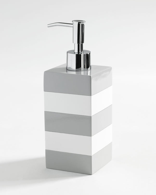 Kassatex Cabana Grey Lotion Dispenser