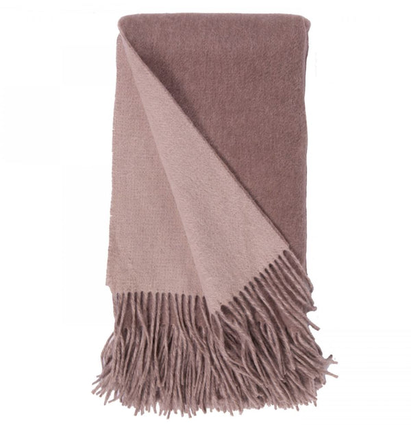 Double-Faced Cashmere Throw - Mushroom & Bisque - 424