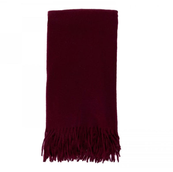 Cashmere Throw in Bordeaux by Alashan