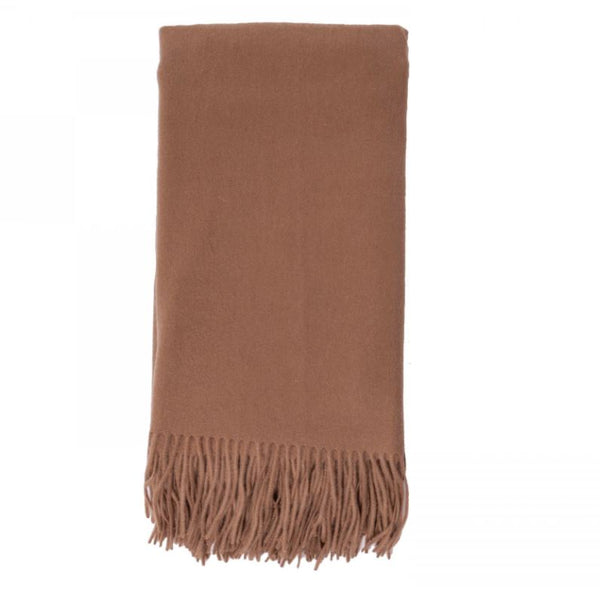 Cashmere Throw in Camel by Alashan - Fig Linens