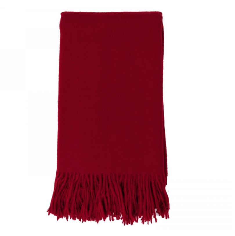 Cashmere Throw in Claret by Alashan - Fig Linens and Home