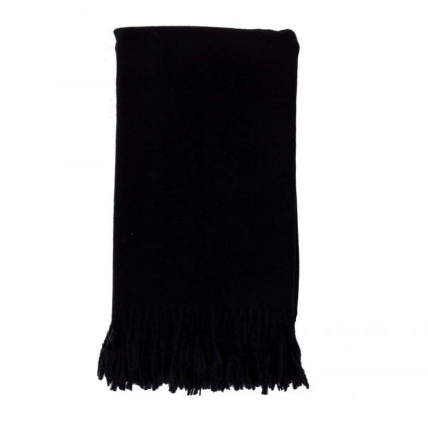 Cashmere Throw in Ebony by Alashan - Fig Linens and Home