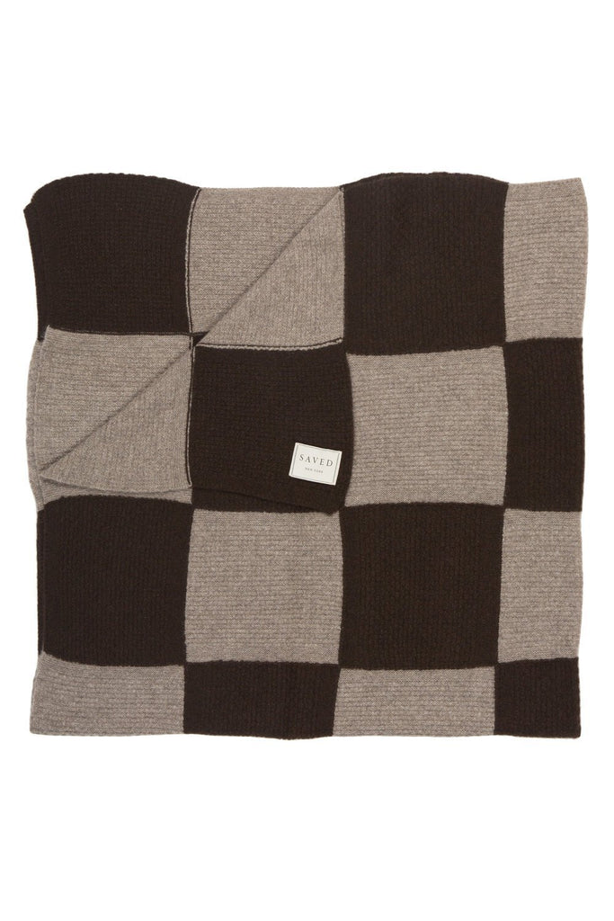 Checker Board Cashmere Throw