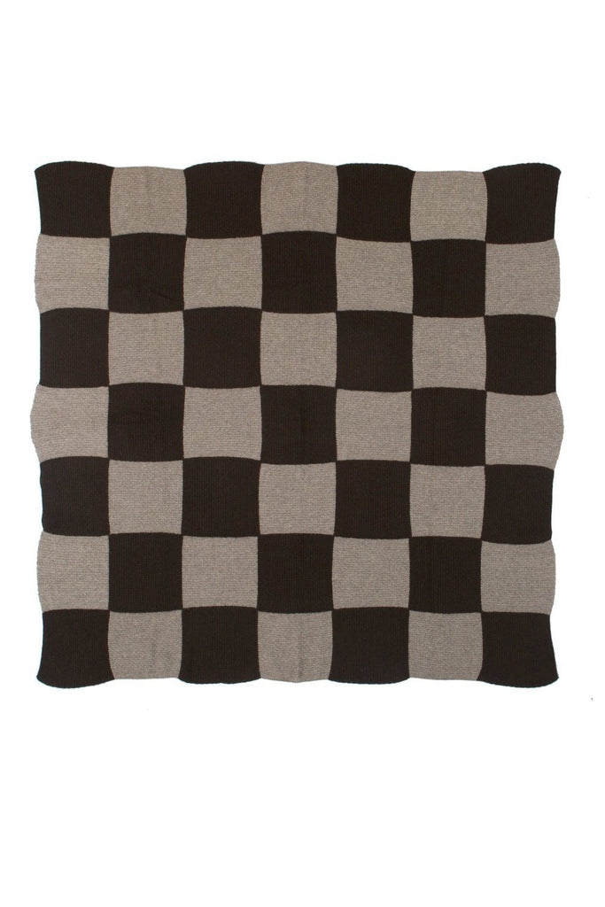 Checker Board Cashmere Throw Saved NY