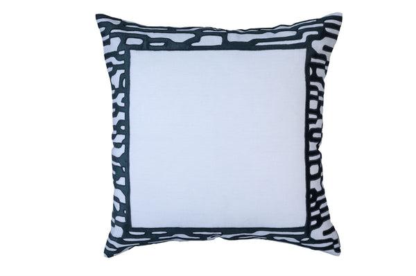 Christian White and Midnight Euro Pillow by Lili Alessandra