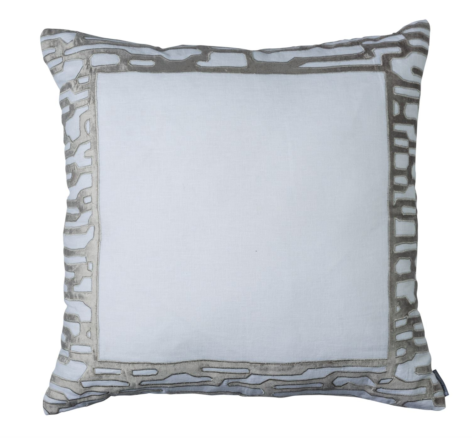 Christian White and Platinum Euro Pillow by Lili Alessandra