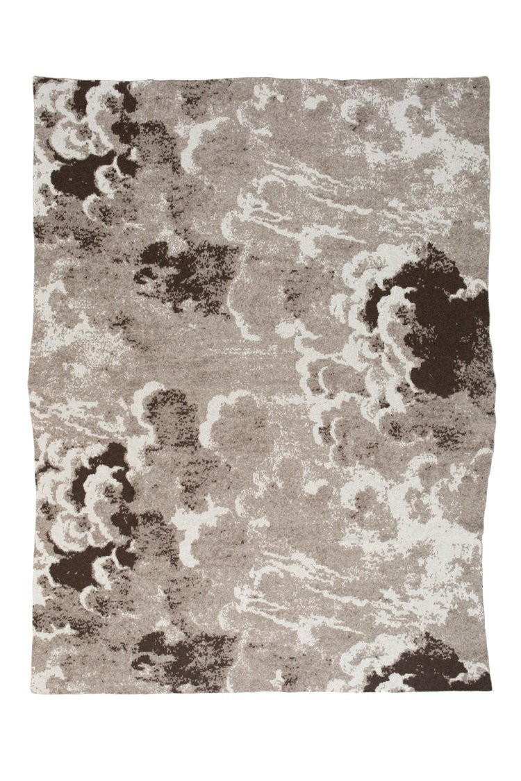 Clouds Sepia Cashmere Throw - Saved NY