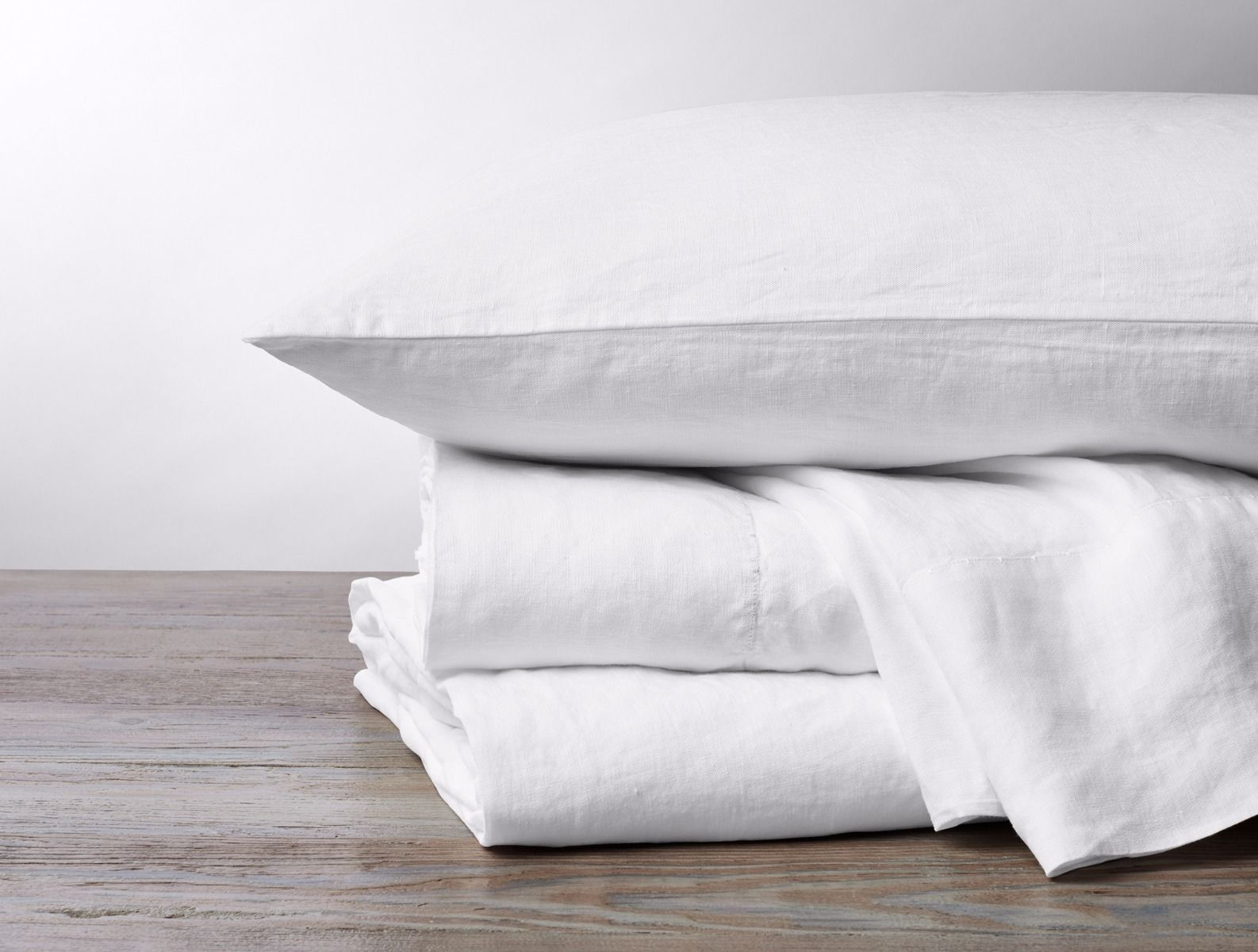 Alpine White Organic Relaxed Linen Bedding by Coyuchi