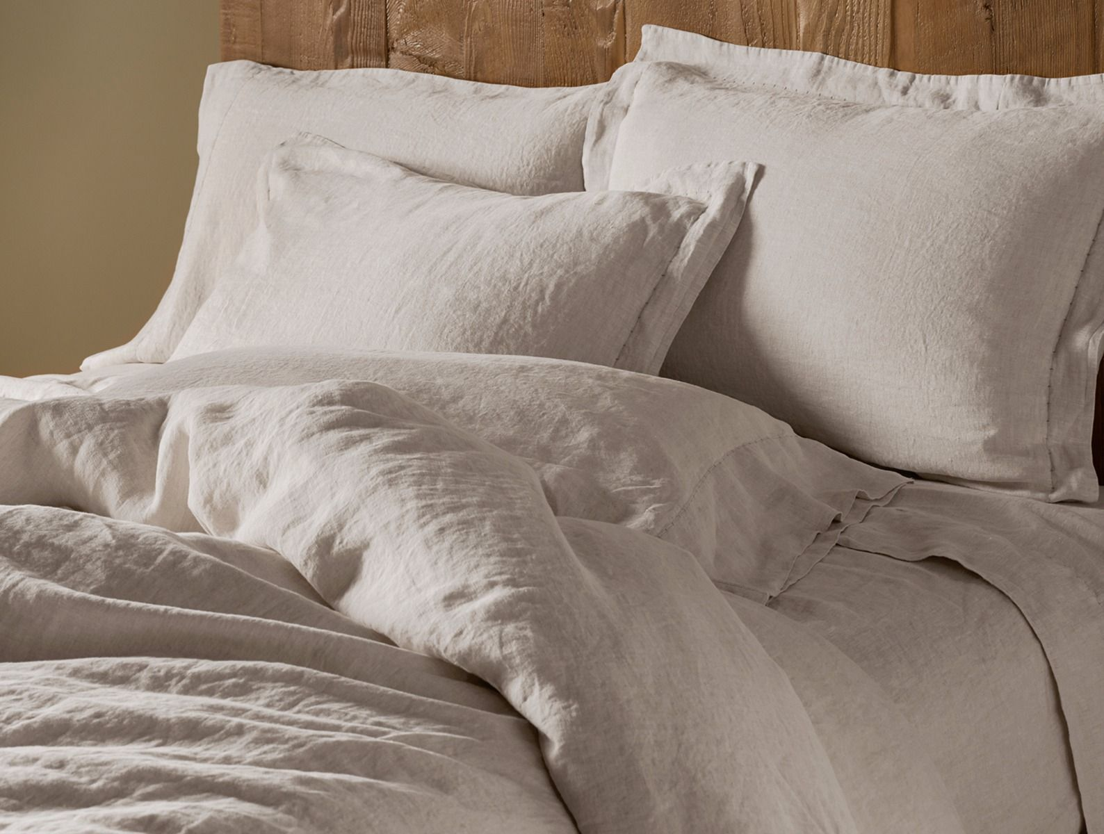 Fig Linens - Coyuchi Organic Linen Chambray Bedding - Natural Undyed