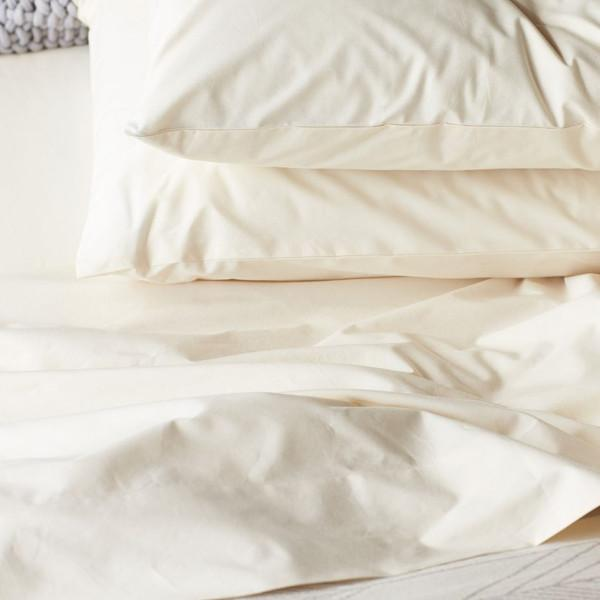 300 TC Organic Percale Sheet Sets by Coyuchi undyed sheets