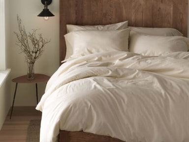 Coyuchi Cloud Brushed Flannel Undyed Duvets and Shams