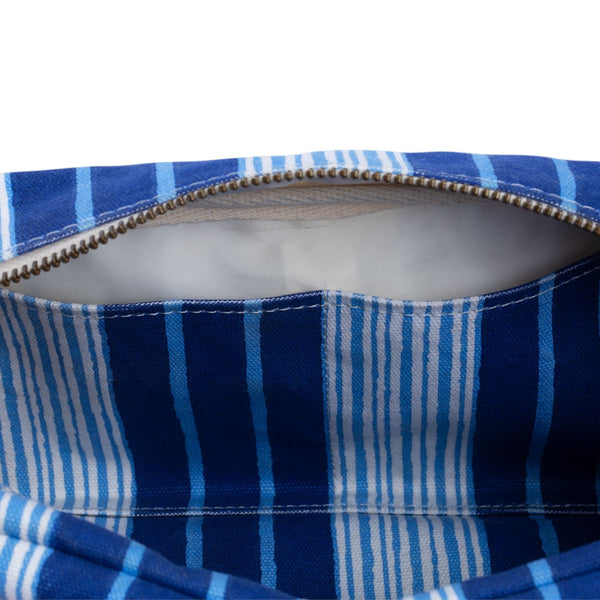 Vintage Stripe Toiletry Bag with Interior Pockets  by John Robshaw | Fig Linens