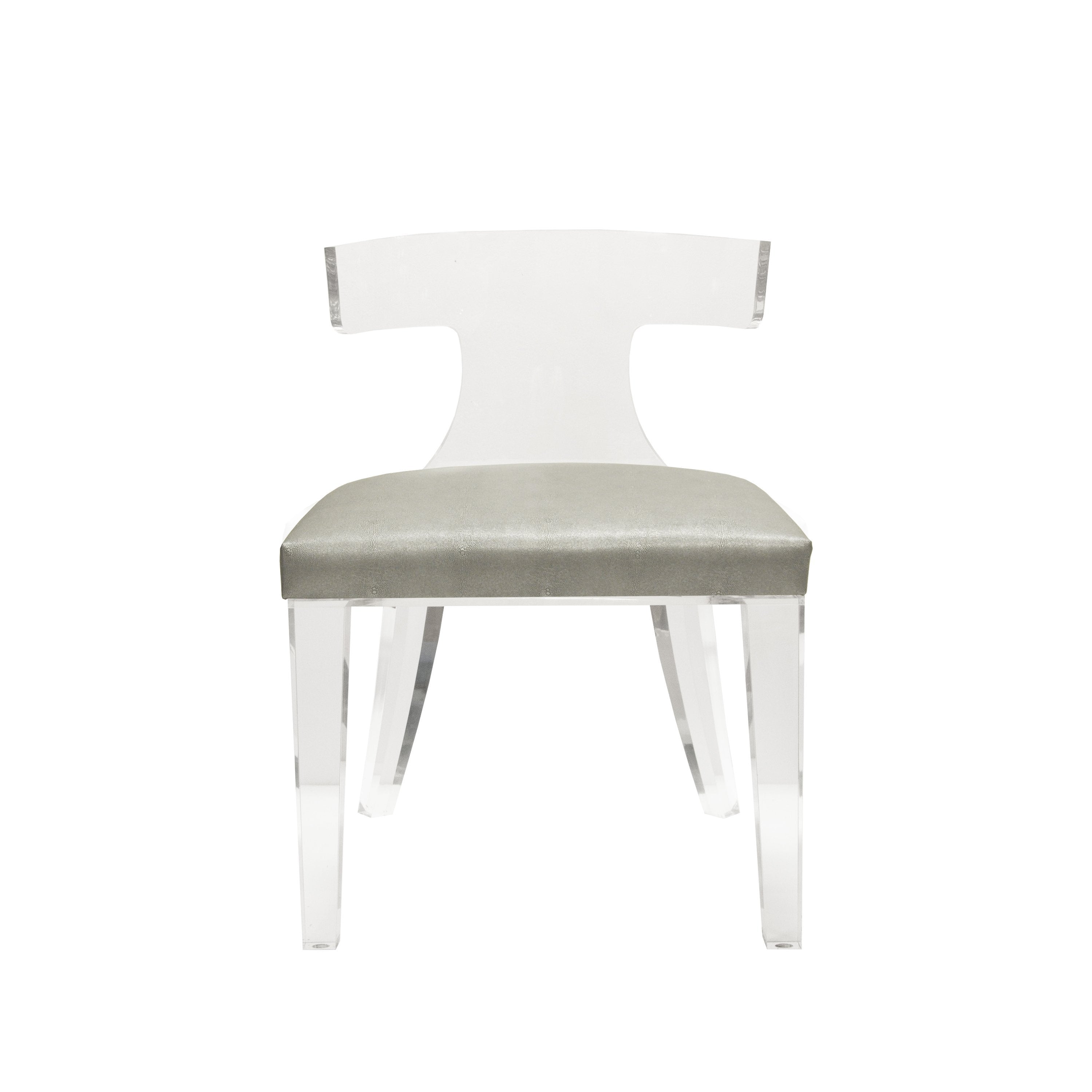 Duke Acrylic and Grey Chair by Worlds Away