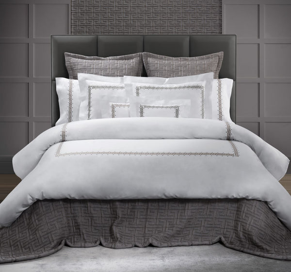 Etruria Embroidery Duvets & Sheets by Dea Linens | Luxury Bedding