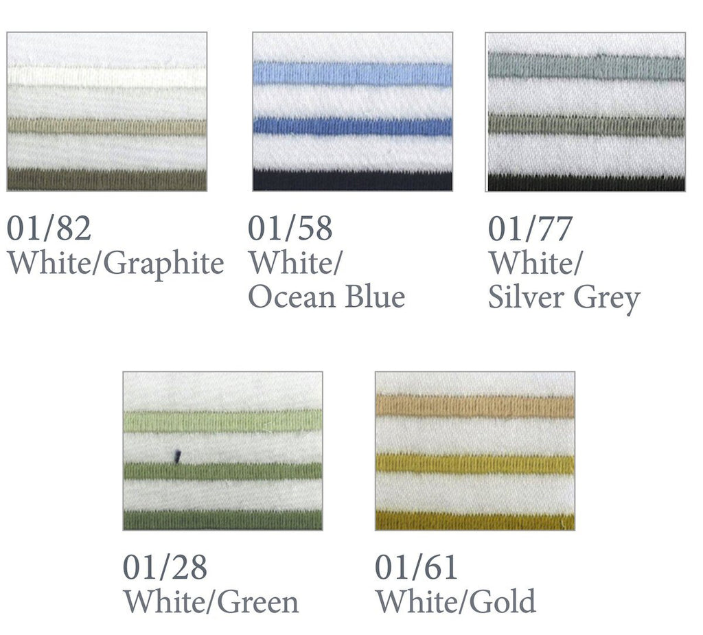 Cavriglia Embroidery Bedding | Dea Fine Linens Hotel Sheets & Duvets Swatch Colors